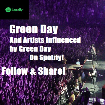 Green Day and Artists Bands Influenced By Green Day On Spotify